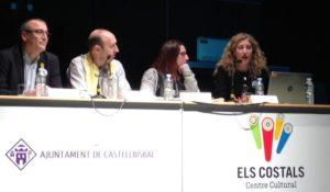 D'esquerra a dreta: Antoni Garcia, diputat d'Igualtat i Ciutadania de la Diputació de Barcelona, Joan Playà, Alcalde de Castellbisbal, Melania Solís, Regidora de Serveis a la Ciutadania, Educació i Participació Ciutadana i Blanca Moreno, directora de la Consultoria MiT.